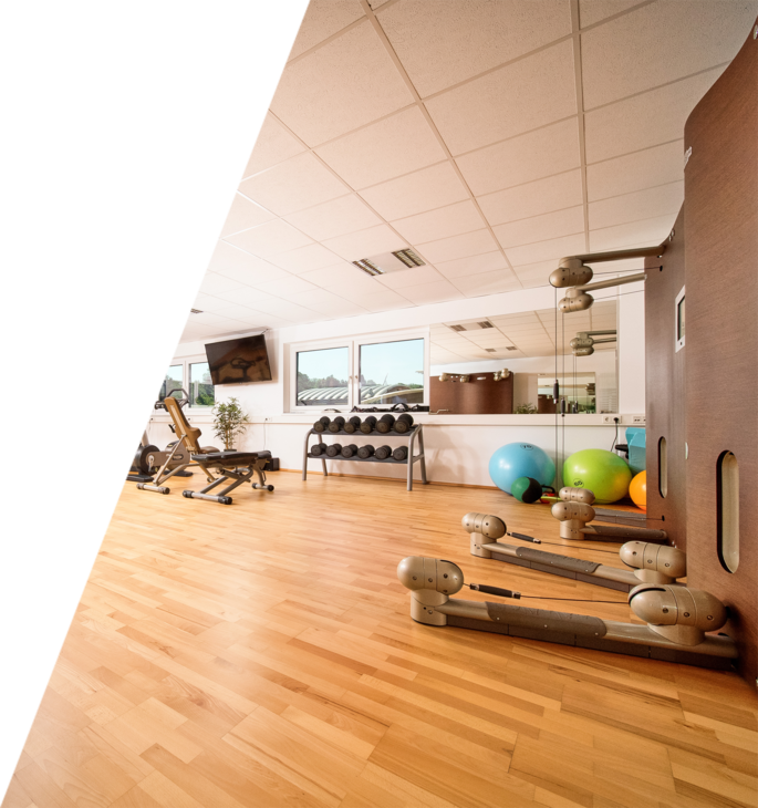 Fitness center  Because the health of our employess is a huge concern to us, we are providing a modern eqiped fitnesscenter for free.